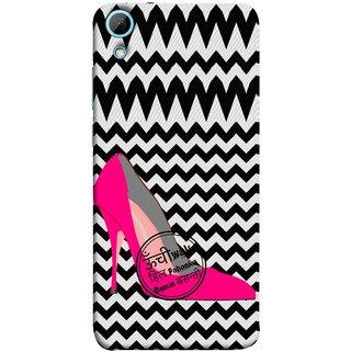 FUSON Designer Back Case Cover For HTC Desire 820 :: HTC Desire 820 Dual Sim ::  HTC Desire 820S Dual Sim :: HTC Desire 820Q Dual Sim ::  HTC Desire 820G+ Dual Sim (High Pencil Heel For Basanti Womans Girls Dance)