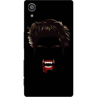 Print Opera Hard Plastic Designer Printed Phone Cover for Sony Xperia Z5 Bloody vampire face black background