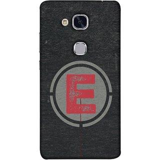 FUSON Designer Back Case Cover For Huawei Honor 5c :: Huawei Honor 7 Lite :: Huawei Honor 5c GT3 (Dark Alphabet Circle Vintage Grey Circle Pattern E)