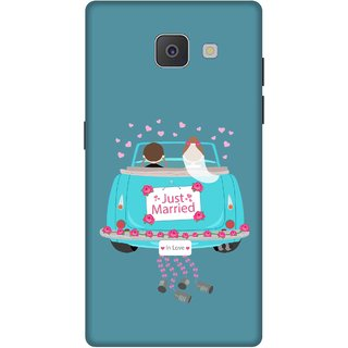 Print Opera Hard Plastic Designer Printed Phone Cover for Samsung Galaxy J7 Prime/Samsung Galaxy On7 2016 Just married couple green background