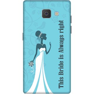 Print Opera Hard Plastic Designer Printed Phone Cover for Samsung Galaxy J7 Prime/Samsung Galaxy On7 2016 This bride is always right bride dress
