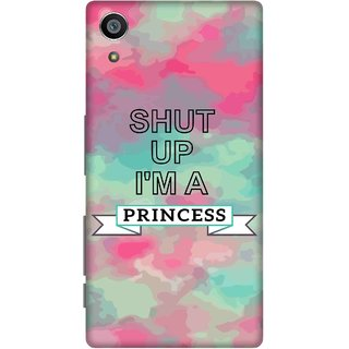 Print Opera Hard Plastic Designer Printed Phone Cover for Sony Xperia Z5 Shut up i am princess pink and green