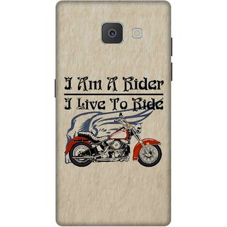 Print Opera Hard Plastic Designer Printed Phone Cover for Samsung Galaxy J7 Prime/Samsung Galaxy On7 2016 I am a rider i live to ride