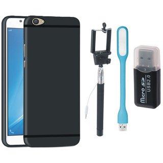 Vivo V5s Cover with Memory Card Reader, Selfie Stick and USB LED Light