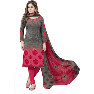Synthetic Printed Salwar Suit Dupatta Material