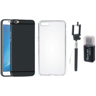 Vivo V5s Cover with Memory Card Reader, Silicon Back Cover, Free Silicon Back Cover and Selfie Stick