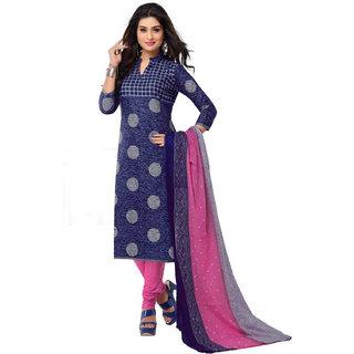 Cotton Salwar Suit Dupatta - Unstitched DressMaterial