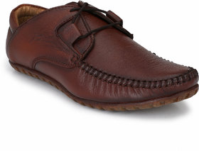 El Paso Men Brown Casual Lace-up Smart Casual Shoes