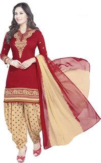 Synthetic Printed Salwar Suit Dupatta Material