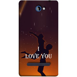 FUSON Designer Back Case Cover For HTC Windows Phone 8S :: HTC 8S (I Love You Wallpapers Flowers Lovers Boyfriends )