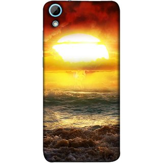FUSON Designer Back Case Cover For HTC Desire 628 :: HTC Desire 628 Dual Sim  (Sunshine Bright Day Sunny Clouds Fuzzy Waves Long )
