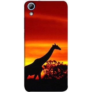 FUSON Designer Back Case Cover For HTC Desire 826 :: HTC Desire 826 Dual Sim (Africa Sunset Giraffe Evening Wildlife Animals )