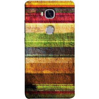 FUSON Designer Back Case Cover For Huawei Honor 5X :: Huawei Honor X5 :: Huawei Honor GR5 (Horizontal Rainbow Painted Brush Strokes Art)