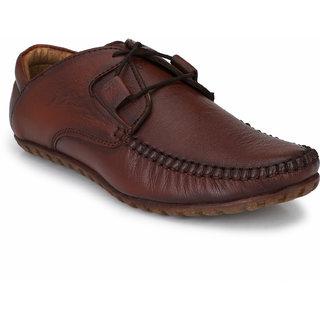 El Paso Men Brown Casual Lace-up Smart Casual Shoes