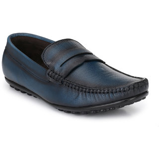 0250a199d58 Buy El Paso Men s Blue Genuine Leather Casual Loafer Shoes Online - Get 73%  Off