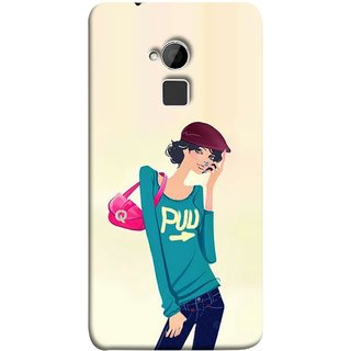 FUSON Designer Back Case Cover For HTC One Max :: HTC One Max Dual SIM (Morden Lady Tshirt Jeans Cap Beautiful Girly)