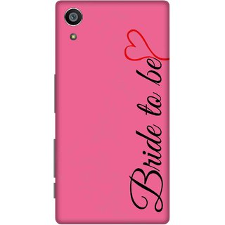 Print Opera Hard Plastic Designer Printed Phone Cover for Sony Xperia Z5 Bride to be with pink background