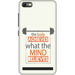 Print Opera Hard Plastic Designer Printed Phone Cover for  Lenovo A2020 The body achieves what the mind believes
