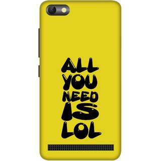 Print Opera Hard Plastic Designer Printed Phone Cover for  Lenovo A2020 All you need is lol yellow