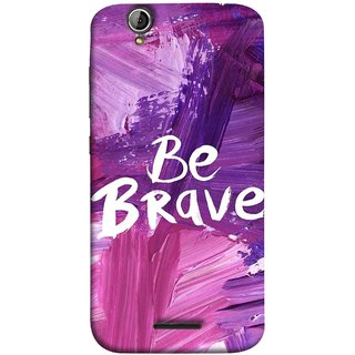 FUSON Designer Back Case Cover For Acer Liquid Z630 :: Acer Liquid Zade Z630S (Be Strong Always Face Issues Bravery Painting )