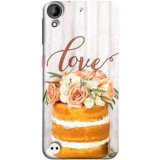 FUSON Designer Back Case Cover For HTC Desire 530 (Comes True Love You Forever Valentine Couples Lovers)