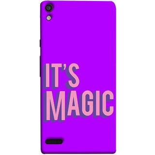 FUSON Designer Back Case Cover For Huawei Ascend P6 (Lovely Wow Fact Motivational Inspirational Words)