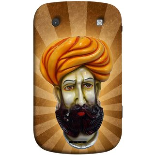 FUSON Designer Back Case Cover For BlackBerry Bold Touch 9900 :: BlackBerry Dakota :: BlackBerry Magnum (Vector Illustration Turban Headdress And Mustache Isolated)