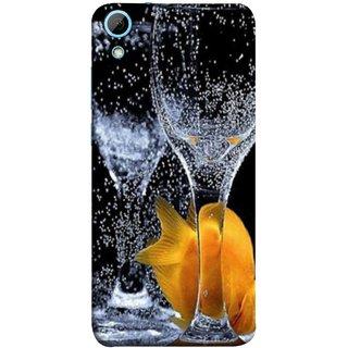 FUSON Designer Back Case Cover For HTC Desire 826 :: HTC Desire 826 Dual Sim (3D Water Splash Illustration Fuzzy Bubbles Unique)