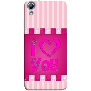 FUSON Designer Back Case Cover For HTC Desire 820 :: HTC Desire 820 Dual Sim ::  HTC Desire 820S Dual Sim :: HTC Desire 820Q Dual Sim ::  HTC Desire 820G+ Dual Sim (Pink Red Wallpapers Flowers Lovers Boyfriends )