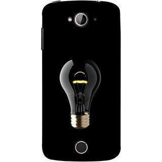FUSON Designer Back Case Cover For Acer Liquid Z530 :: Acer Liquid Zade Z530S (Hanging Light Bulb In Dark Room Ceiling Darkness )
