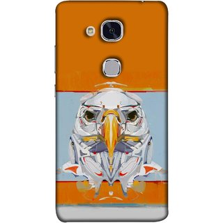 FUSON Designer Back Case Cover For Huawei Honor 5c :: Huawei Honor 7 Lite :: Huawei Honor 5c GT3 (Stearing Eyes Deadly Look Canvas Vision Bird Sky High)