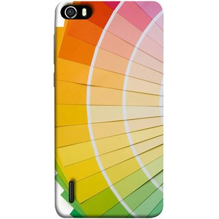 FUSON Designer Back Case Cover For Huawei Honor 6 (Papers Sheets White Circle Round Beautiful Lining )