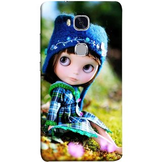 FUSON Designer Back Case Cover For Huawei Honor 5X :: Huawei Honor X5 :: Huawei Honor GR5 (Cute Barbie Doll Images Grass Green Best Back Cover)