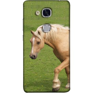 FUSON Designer Back Case Cover For Huawei Honor 5c :: Huawei Honor 7 Lite :: Huawei Honor 5c GT3 (White Horse In The Park On The Green Grass)