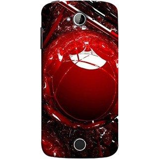 FUSON Designer Back Case Cover For Acer Liquid Z530 :: Acer Liquid Zade Z530S (Bold Red Design 3D Rendering Of Modern Abstract)