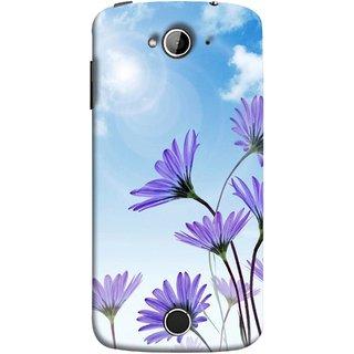 FUSON Designer Back Case Cover For Acer Liquid Z530 :: Acer Liquid Zade Z530S (Daisy Flower Garden Blue Sky White Clouds )