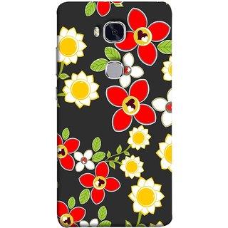 FUSON Designer Back Case Cover For Huawei Honor 5X :: Huawei Honor X5 :: Huawei Honor GR5 (Floral Patterns Digital Textiles Florals Design Patterns)