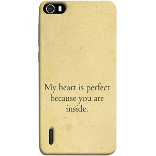 FUSON Designer Back Case Cover For Huawei Honor 6 (Love Is Worth The Effort Pure Lovers Hearts Kisses)