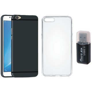 Nokia 3 Cover with Memory Card Reader, Silicon Back Cover, Free Silicon Back Cover