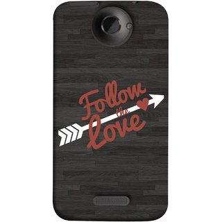 FUSON Designer Back Case Cover For HTC One X :: HTC One X+ :: HTC One X Plus :: HTC One XT (Hearts Alone Arrow White Follow Worlds)
