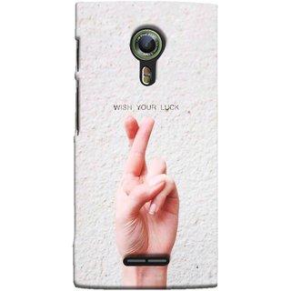 FUSON Designer Back Case Cover For Alcatel Flash 2 :: Alcatel Onetouch  Flash 2 (Always Wish You Best Success Happy Palm )