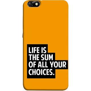 FUSON Designer Back Case Cover For Huawei Honor 4X :: Huawei Glory Play 4X (Jindgi Tumhari Nirnay Ka Natija Hai Long Life)