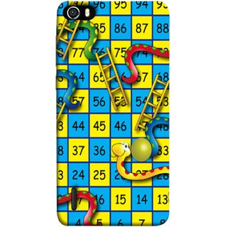 FUSON Designer Back Case Cover For Huawei Honor 6 (Dice Pair Nice Game India Blue Children Squares Girls )