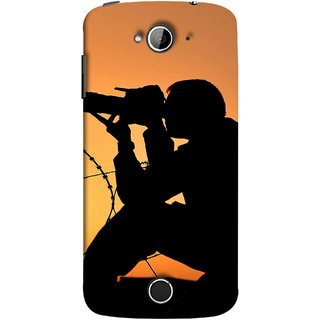 FUSON Designer Back Case Cover For Acer Liquid Z530 :: Acer Liquid Zade Z530S (Life Through A Lens Sunset Silhouette Camera Lens)