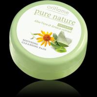 Oriflame Pure Nature ORGANIC Aloe Vera & Arnica Cleansing Pads - 25 Pads