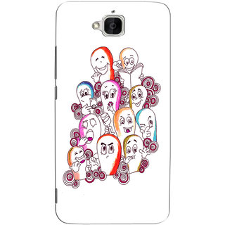 Sketchfab Cartoon  Totu TPU Ultra Thin PREMIUM LATEST DESIGNER PRINTED CASE COVER For  Huawei Honor Holly 2 Plus - Clear