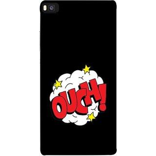 FUSON Designer Back Case Cover For Huawei P8 (Nice Words Lag Gayi God Bless Ohhh White Cloud Stars )