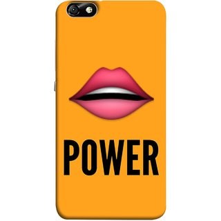 FUSON Designer Back Case Cover For Huawei Honor 4X :: Huawei Glory Play 4X (Power Of Kiss Words Red Lips Pinky Flying Kisses Girl Lovers )