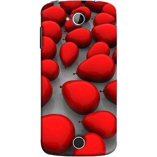 FUSON Designer Back Case Cover For Acer Liquid Z530 :: Acer Liquid Zade Z530S (Balloons Red Love Dark Gift Motivational)