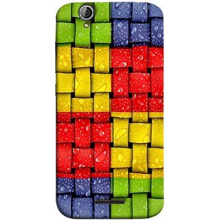 FUSON Designer Back Case Cover For Acer Liquid Z630 :: Acer Liquid Zade Z630S (Bright And Beautiful Colour Strips And Band Wave )